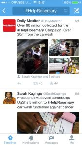 The #HelpRosemary Campaign conducted using Social Media